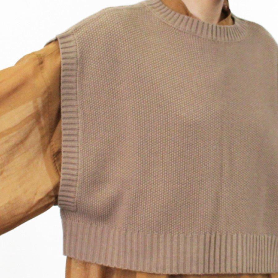 バルキー鹿の子編みショートトップス