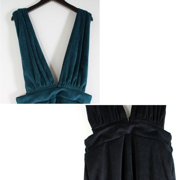 ベロアサスペンダー付きスカート