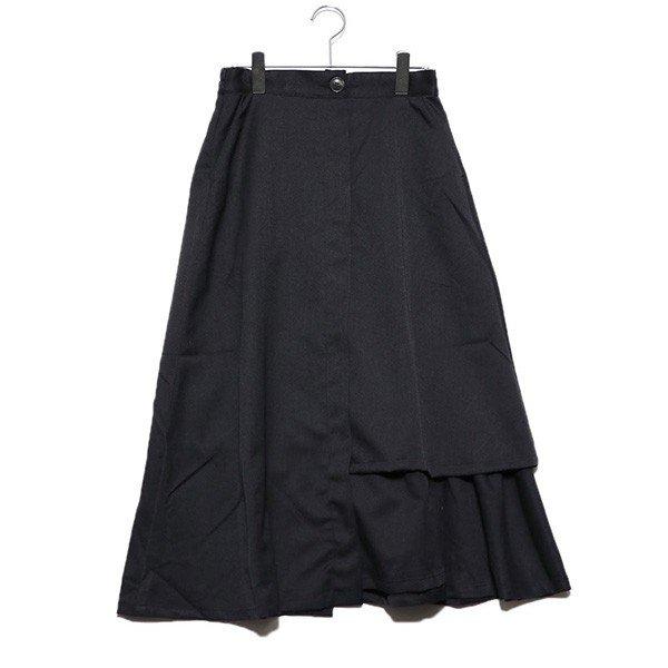 ツイルラッフルフレアスカート