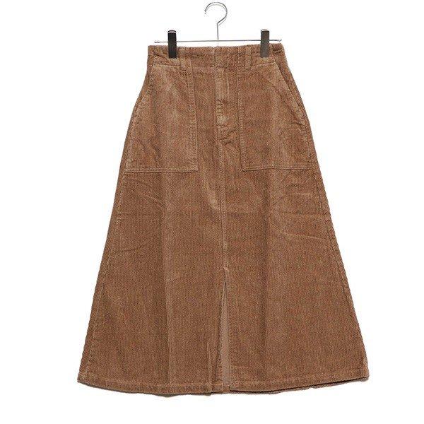 コーデュロイベーカースカート