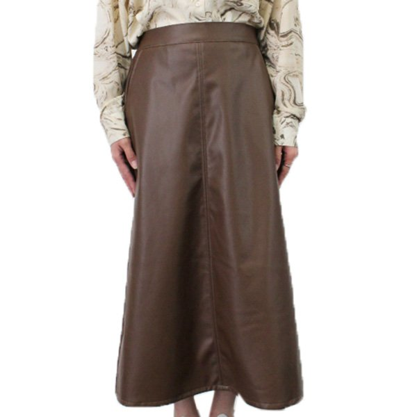 合皮ストレートスカート