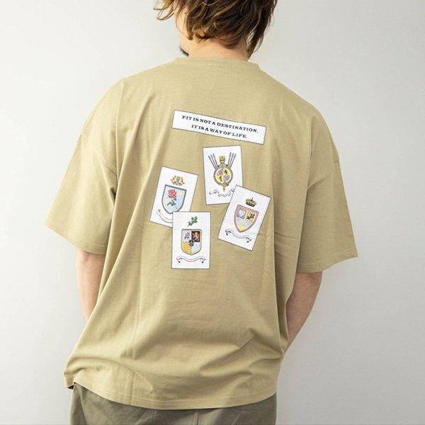 イラストプリントドロップショルダービッグTシャツ