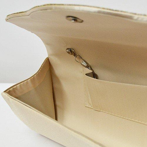 上質サテンプリーツフラップパーティークラッチバッグ