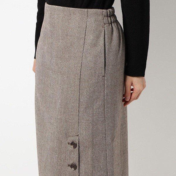 ツイードヘリンボーンタイトスカート