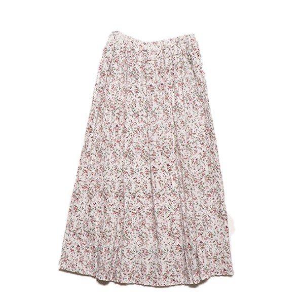 花柄シフォンプリーツスカート