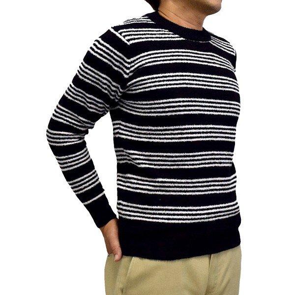 ボーダークルーネックセーター