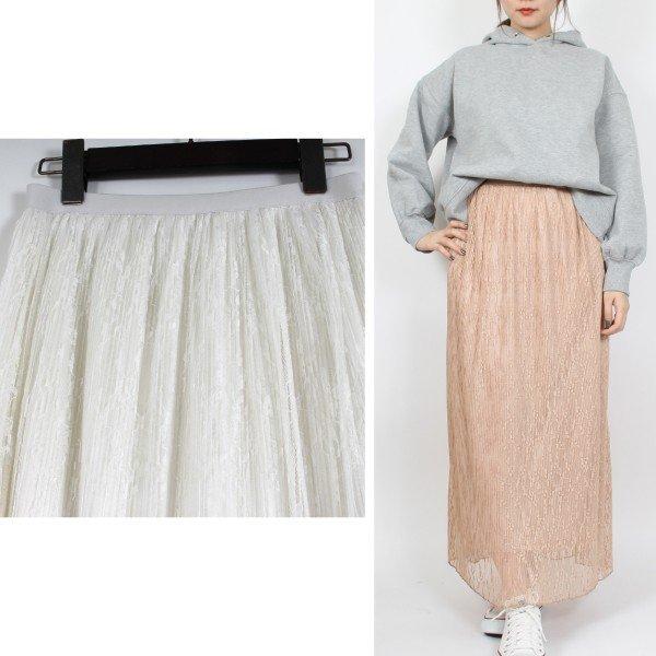 ラッセルレースプリーツスカート