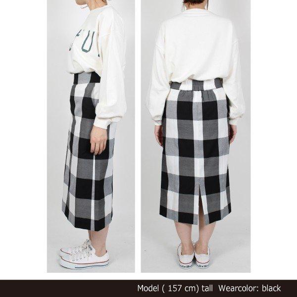 ツイルバッファローチェックタイトスカート