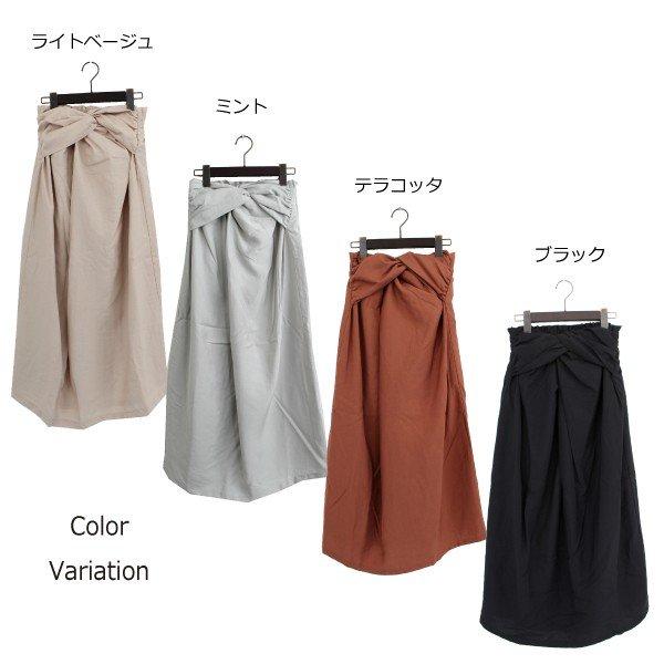 クレープフロントツイストスカート
