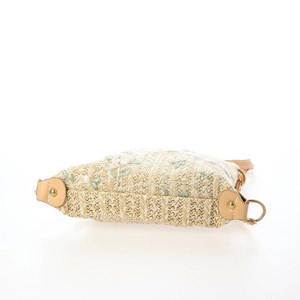 花柄刺繍かごチェーンショルダーバッグ