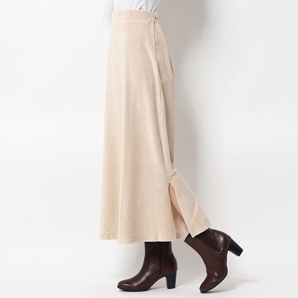 ベロアリブカットソーマーメイドロングスカート