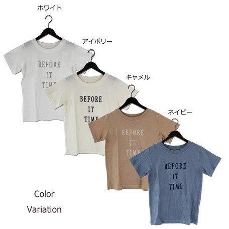 フロッキープリントTシャツ
