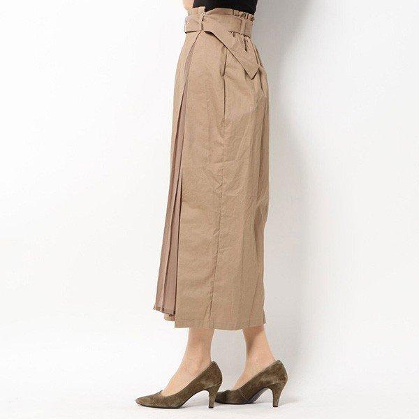 綿ツイル×シフォンプリーツ切替スカート