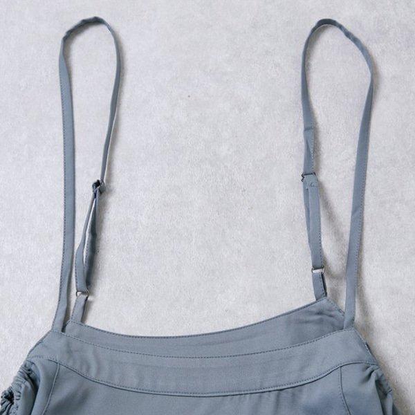 サイドリボンフレアサロペットスカート