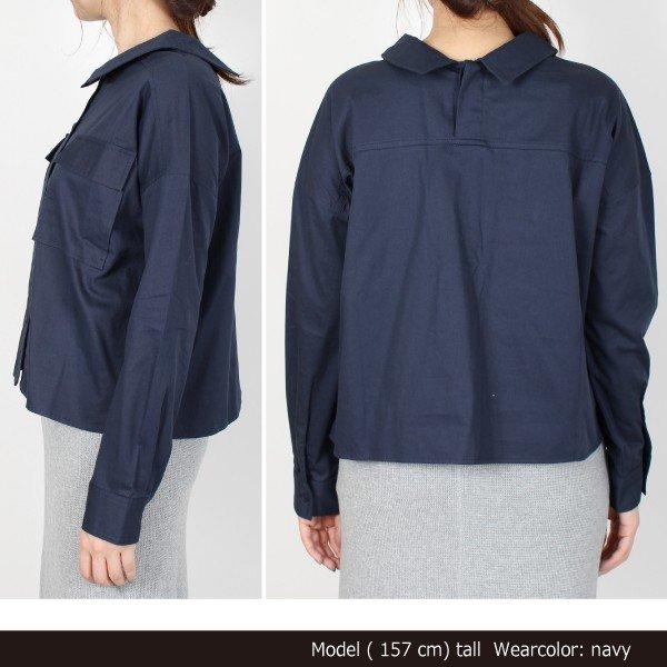 綿ツイルミリタリーシャツ