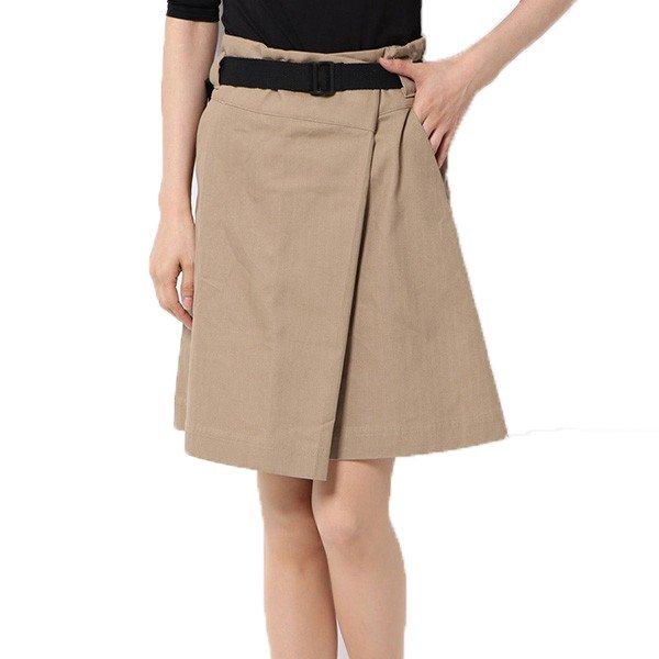 綿ヘリンボーンベルト付きミニスカート