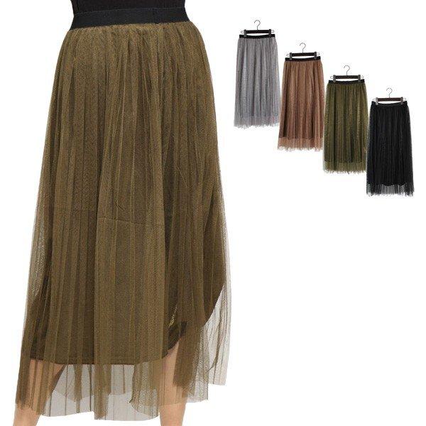 ベロア×チューツプリーツスカート