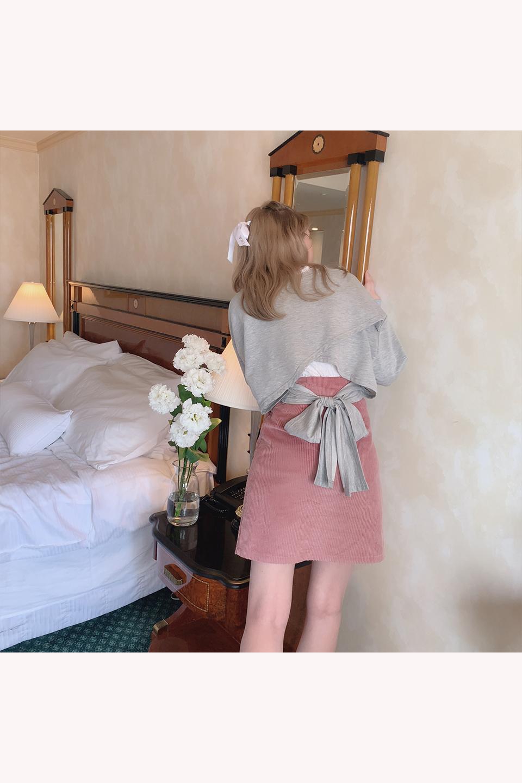 ハイウエストコーデユロイ台形スカート