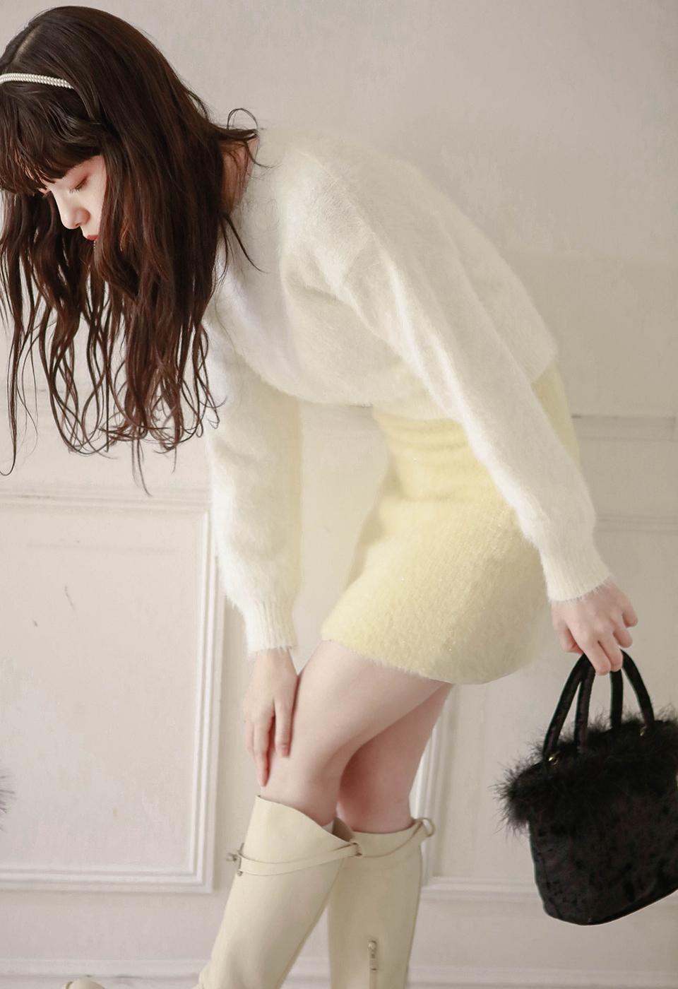 【予約販売】フェイクファータイトスカート