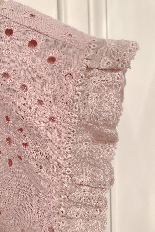 バックリボンフリル刺繍ビスチェ
