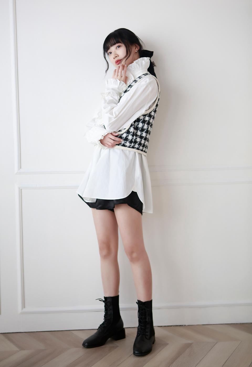 【予約販売】レースキャバリアシャツブラウス