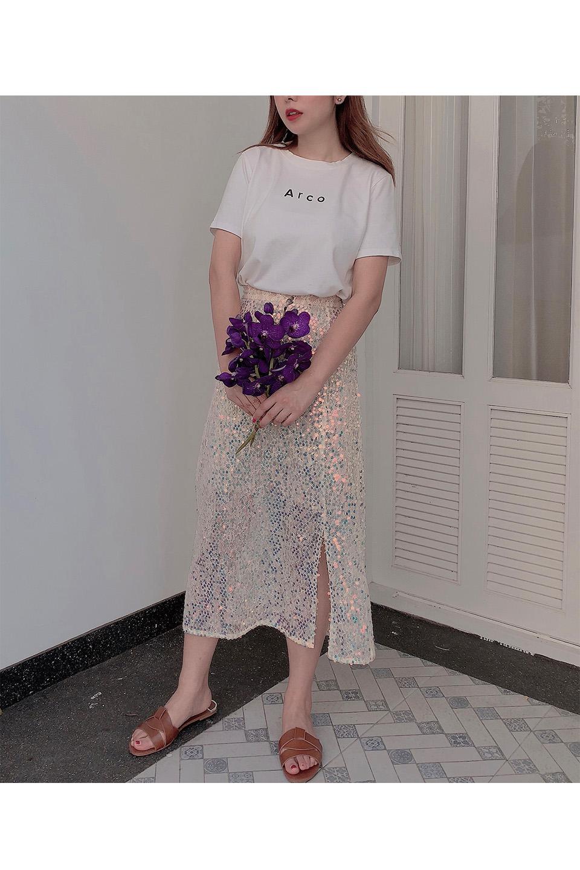 オーロラスリットスカート
