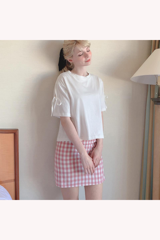ギンガムチェックタイトミニスカート