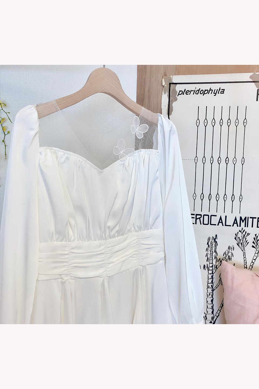 3Dフラワーサテンドレス