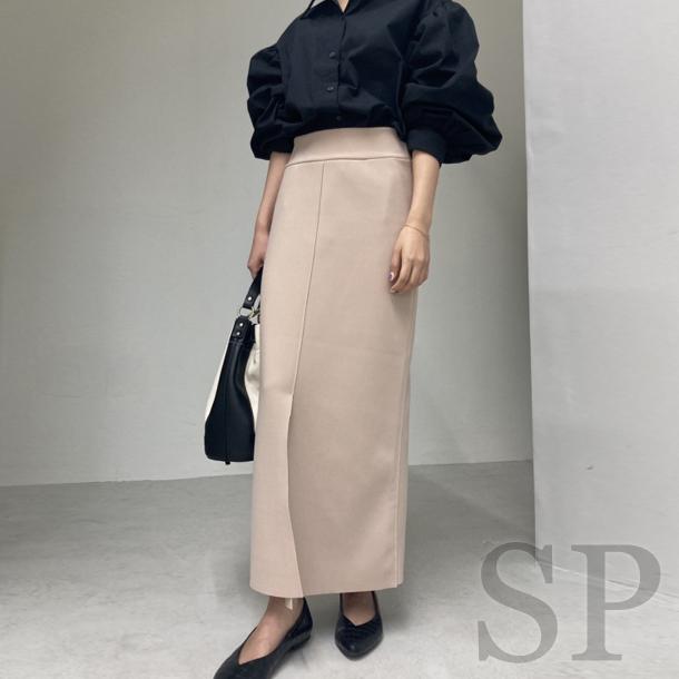 【即納可】ステッチペンシルロングスカート