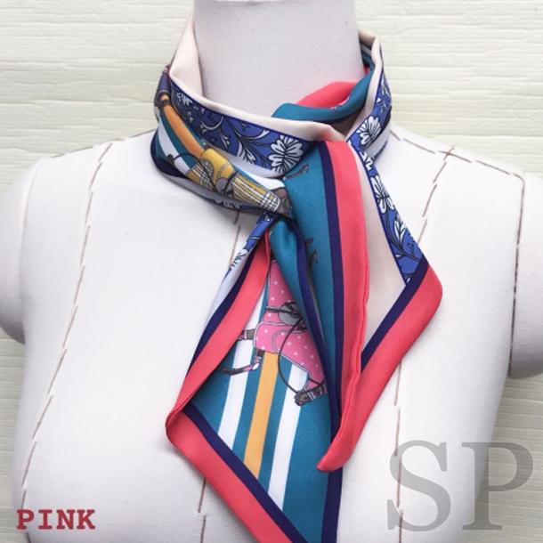 【即納可】ホース柄リバーシブルリボンタイスカーフ