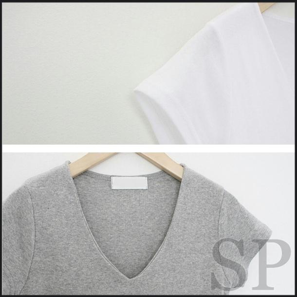 【ネコポス送料無料】【即納可】シンプルVネックTシャツ