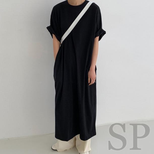 【即納可】ポケット付きTシャツワンピース