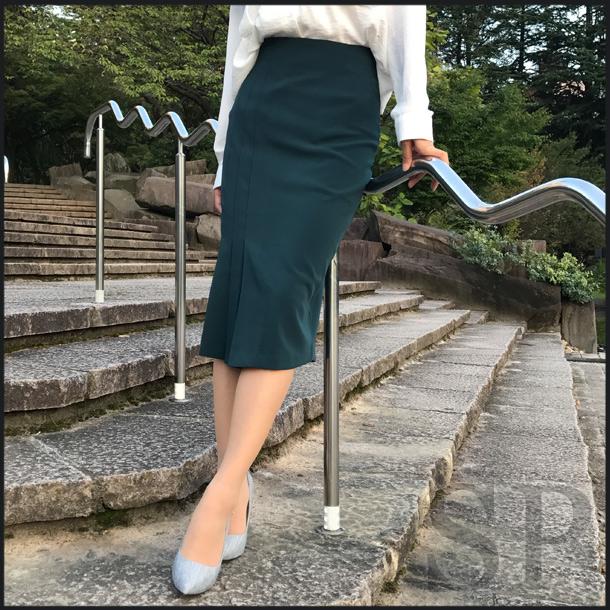 【30%off】イレヘムプリーツタイトスカート