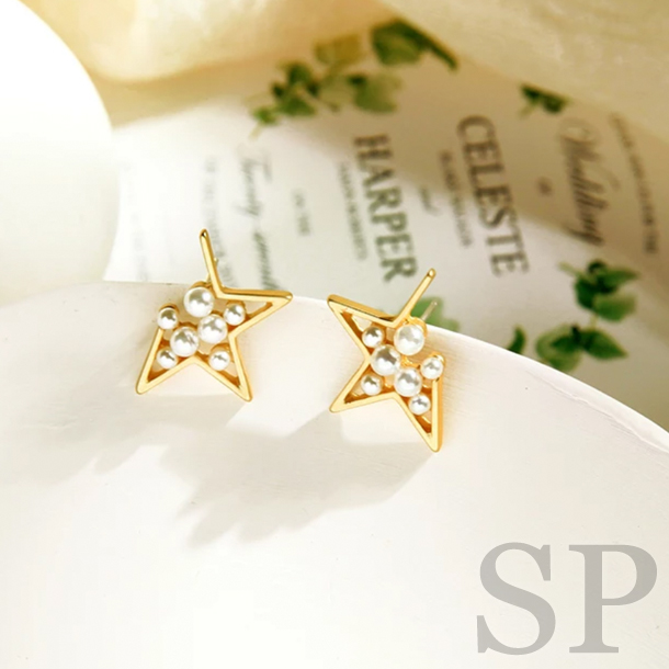 【Sold out】スターパールピアス