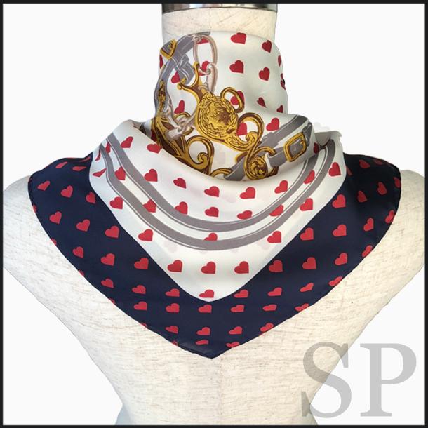【即納可】ハート柄スカーフ