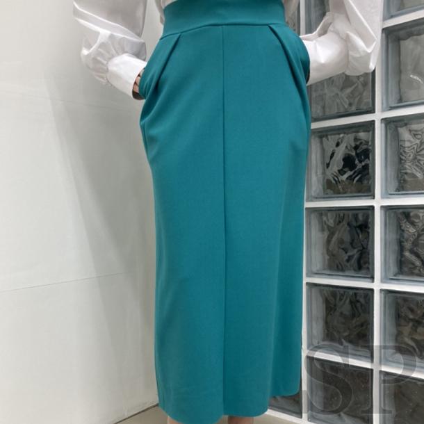 【即納可】ウエストタックペンシルロングスカート
