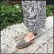 【50%off】【グレー23.5cmのみ】スエード調フリルバブーシュサンダル