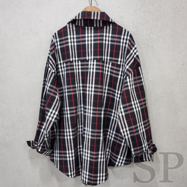 【即納可】チェックドルマンオーバーシャツ