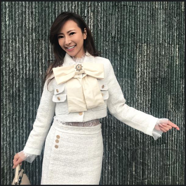 【即納可】ショートジャケットリボンセットアップスーツ