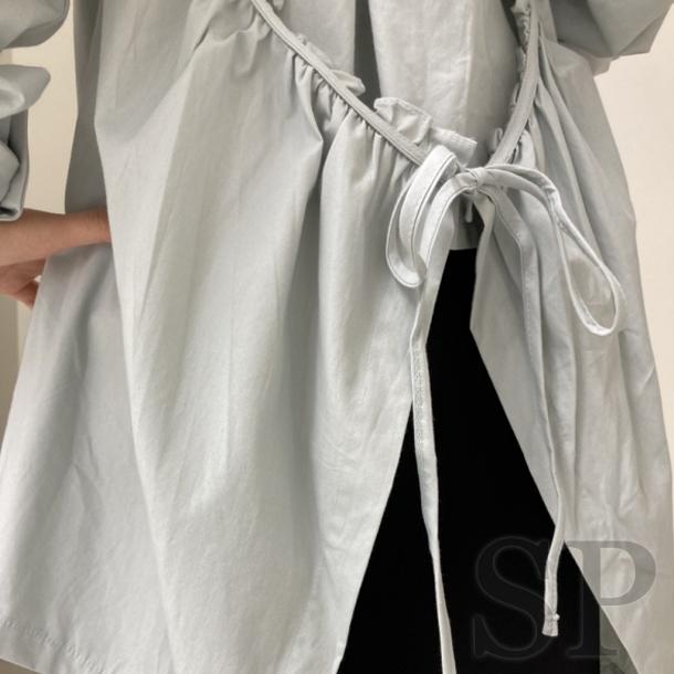 【即納可】バックギャザーシャツブラウス