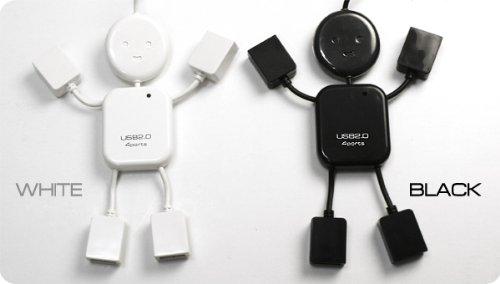 人形型4ポートUSBハブ2.0 Hi-SPEED!充電とデータ転送が同時にOK!USB HUB
