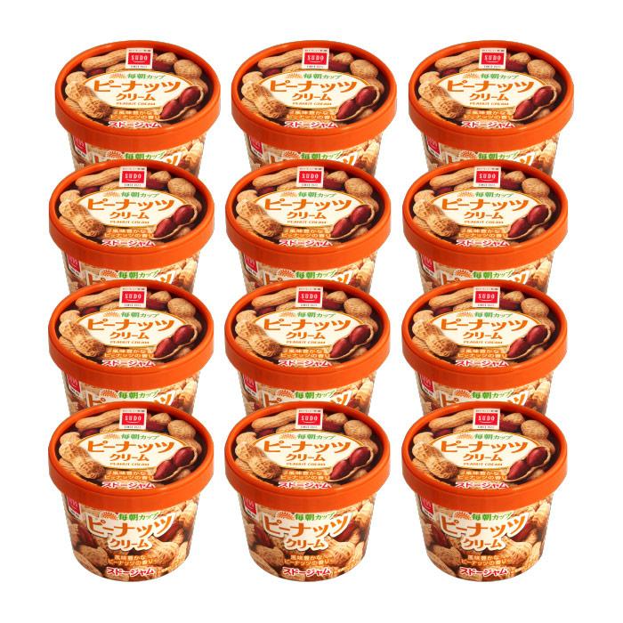 送料無料 【ケース販売】スドージャム 毎朝カップ ピーナッツクリーム135g 1ケース(12個入り)
