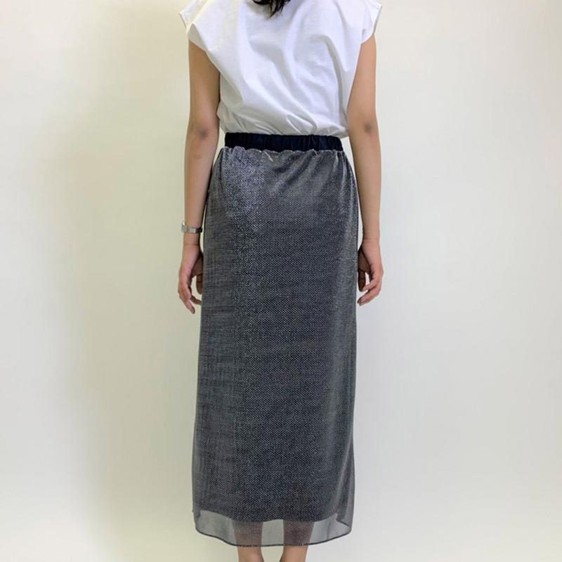 【予約】ラメメッシュタイトスカート【4月末出荷予定】