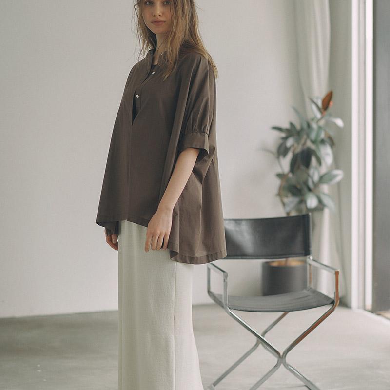 綿ボイルシャツ