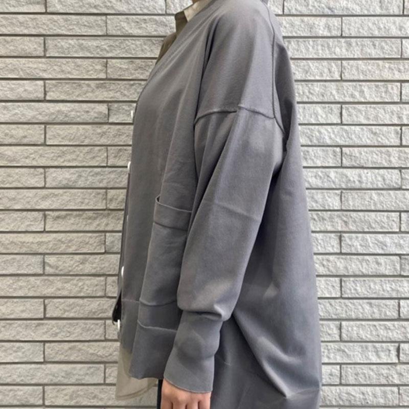 ポケット付きニットカーディガン