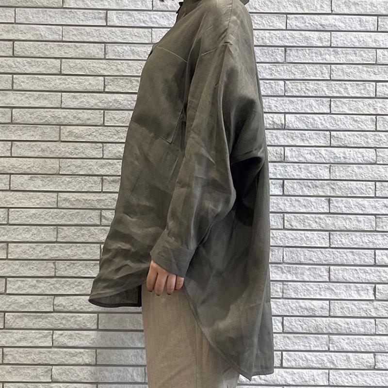 【予約】金ボタン麻シャツ【4月中旬出荷予定】