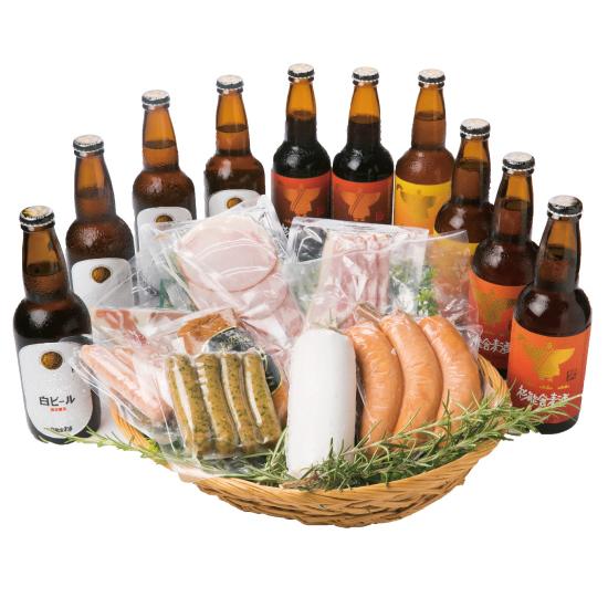 季節の地ビールとプレミアムハムソーセージセット<送料無料>