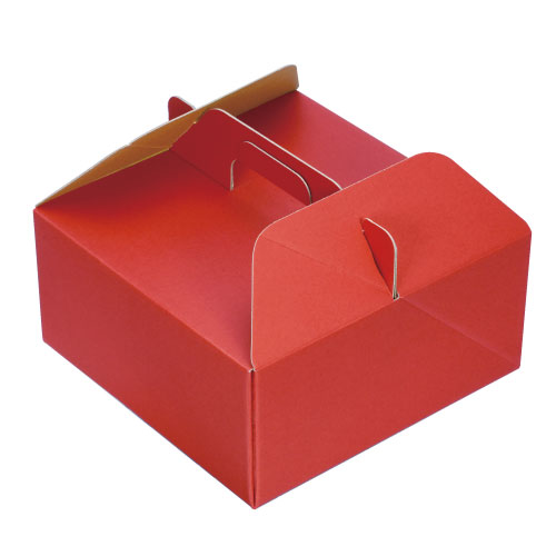 ライナーBOX RED キャリーM 100個【有料袋不要でエコ チーズケーキやタルトに最適!】