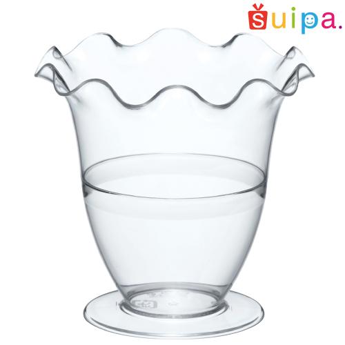 【パフェ グラス風 プラスチック】PS フルールパフェ 240個【脚付きカップ パフェカップ ゼリー容器 プリンカップ 使い捨てカップ プラスチック】