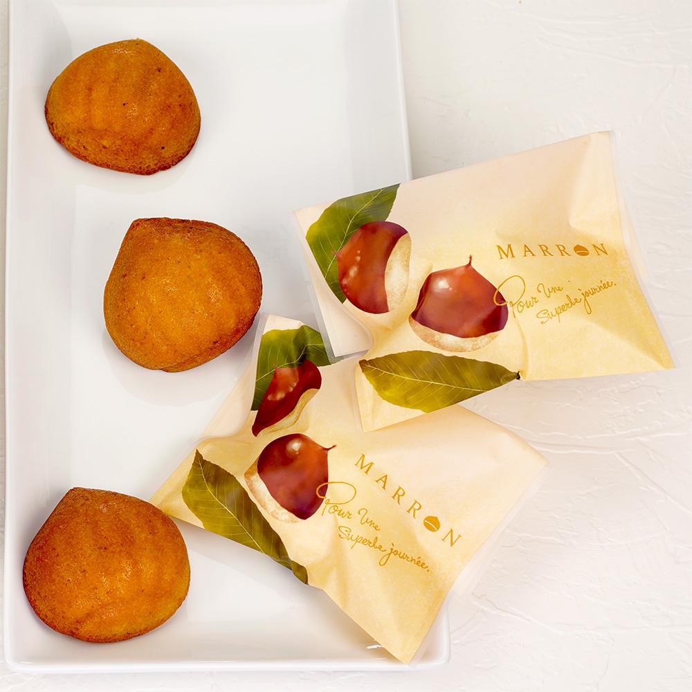 マットバリア二方袋 マロン 115×150 1,000枚【マロンケーキ 栗菓子 バラ売り ギフト 上品なマット素材と温かいデザイン】